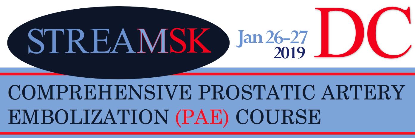 StreamSK- Comprehensive Prostatic Artery Embolization (PAE) Course
