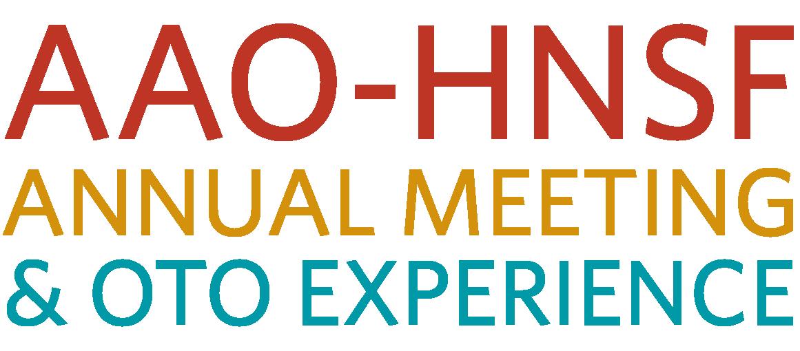 AAO-HNSF Annual Meeting & OTO Expo 2018 - American Academy of Otolaryngology - Head & Neck Surgery