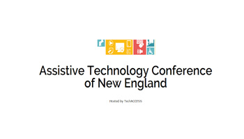 2017 Assistive Technology Conference Of New England