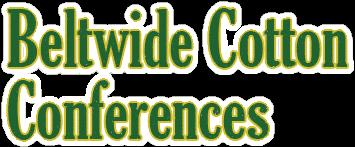 Beltwide Cotton Conferences 2018