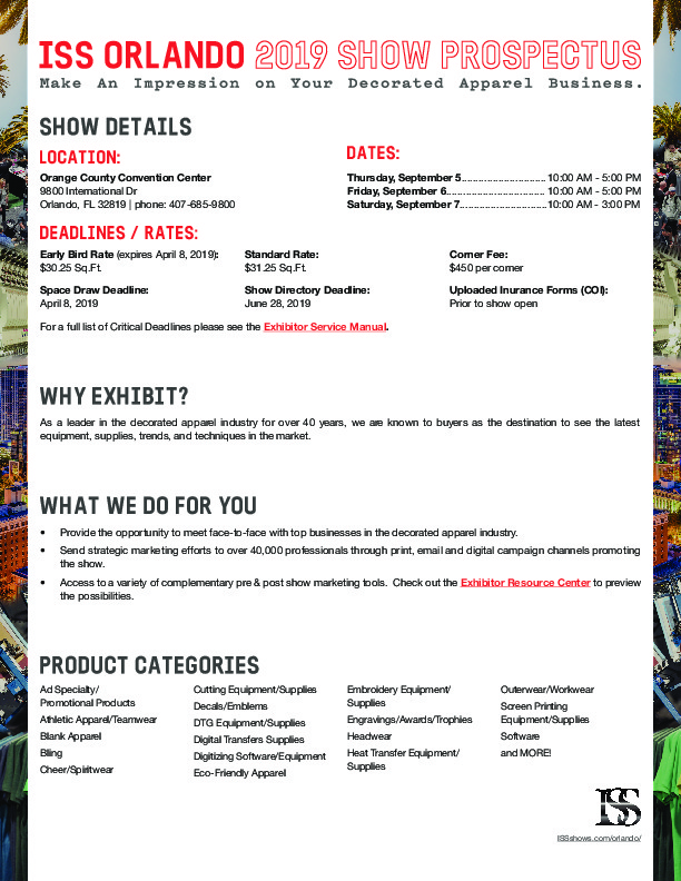 ISS 2019 - Imprinted Sportswear Show | Events in America
