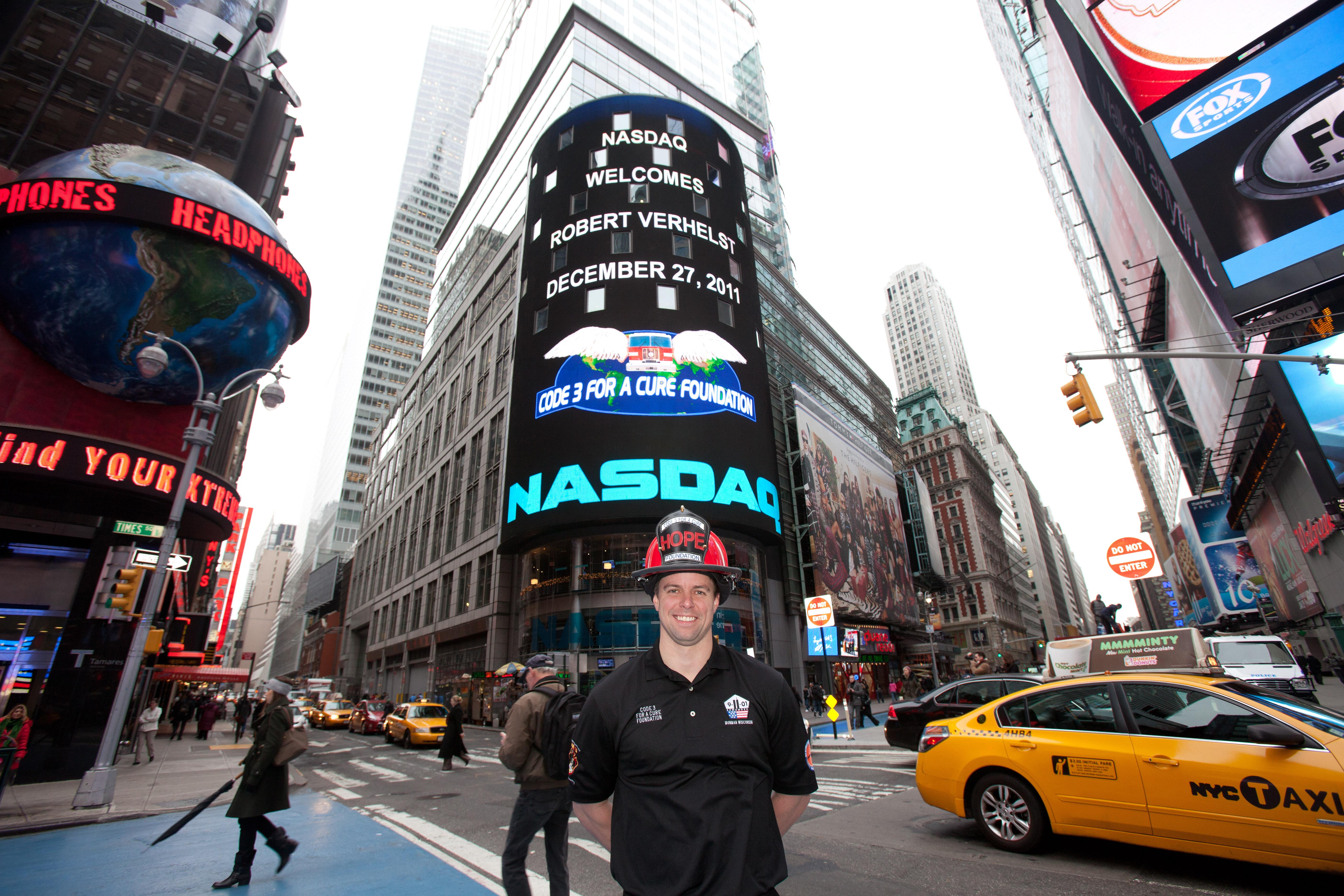 Ringing opening bell at NASDAQ