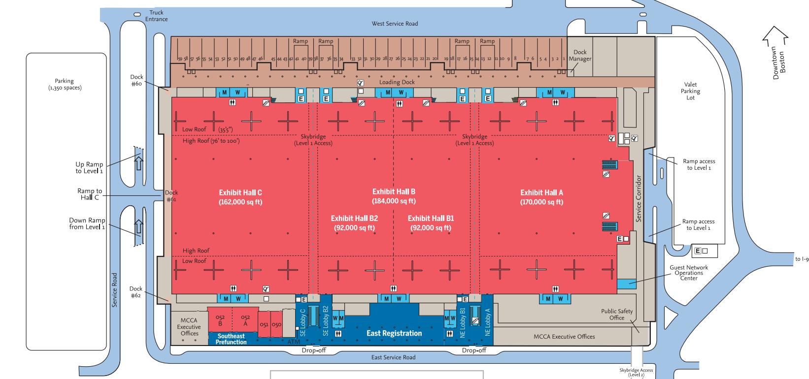 map of boston convention center Venues Boston Convention Exhibition Center map of boston convention center