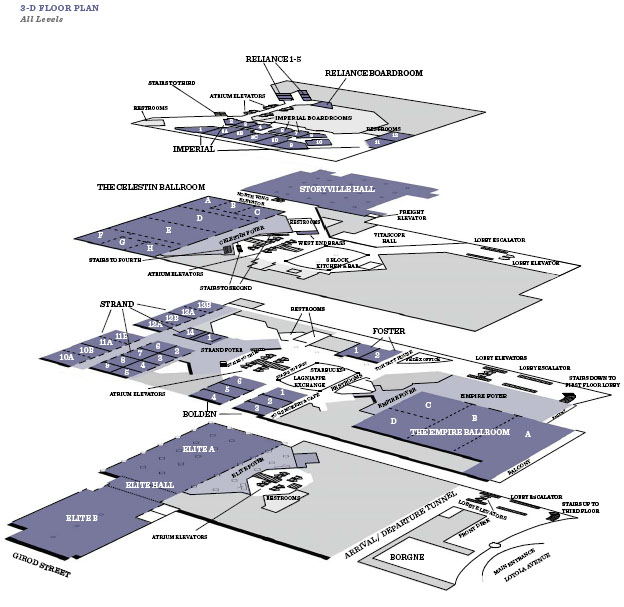 Hyatt Regency New Orleans Map.Venues Hyatt Regency New Orleans