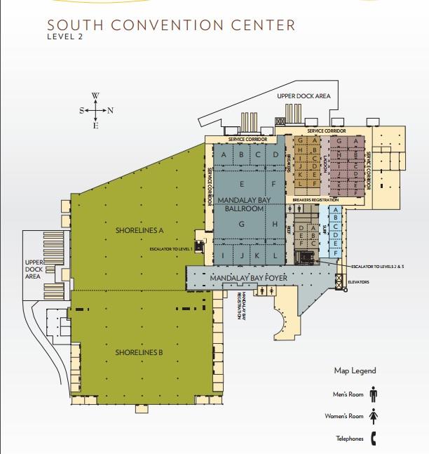 Las Vegas Convention Center Floor Plan Mandalay Bay Matttroy